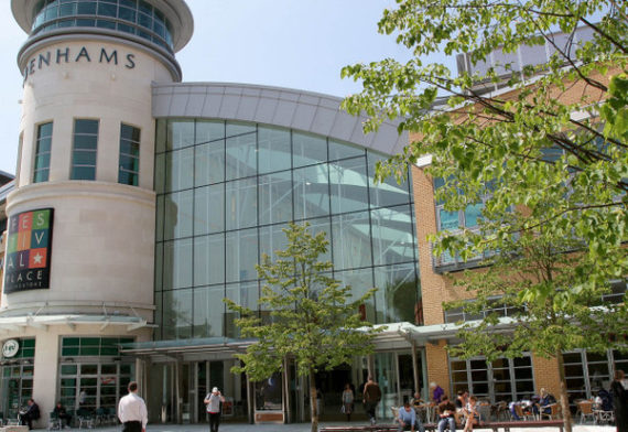 Basingstoke shopping area and town centre