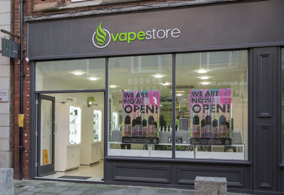 Vapestore Reading storefront