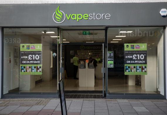 Vapestore Worthing storefront