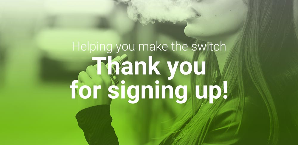 Thank you for signing up to quit smoking
