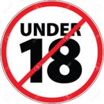 under 18 warning