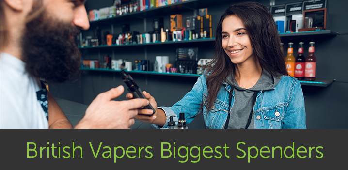 British Vapers Biggest Spenders in the World