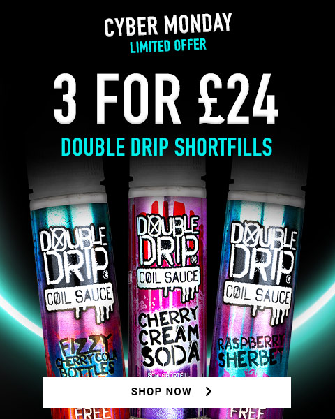 3 for £24 double drip shortfills