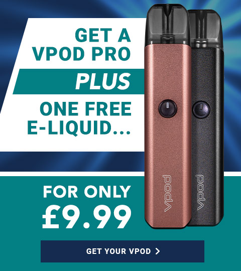 Get a vpod Pro and a free e-liquid for only £9.99