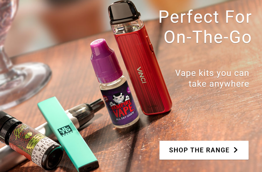 Perfect for on-the-go. Vape kits you can take anywhere