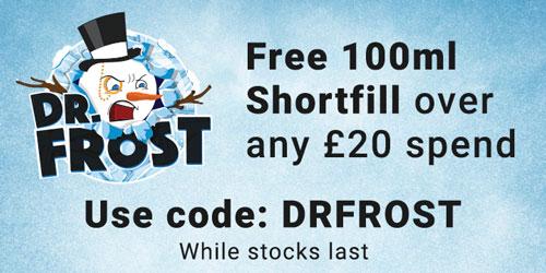Free 100ml shortfill over any £20 spend