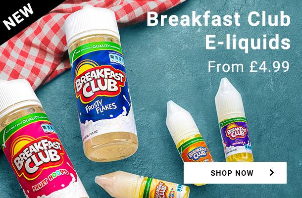 Breakfast Club e-liquids. From £4.99