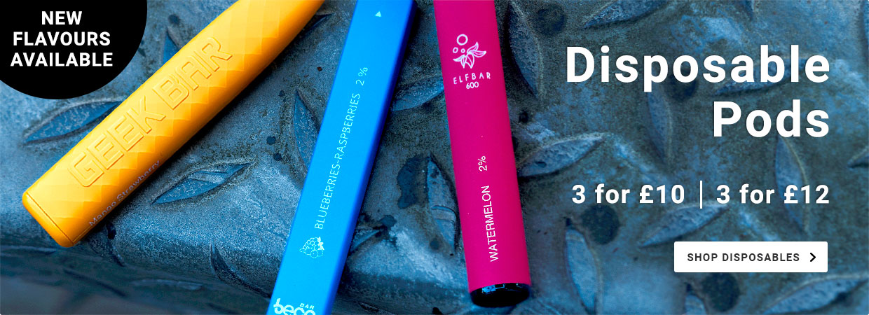 Disposable Pods. 3 for £10 or 3 for £12
