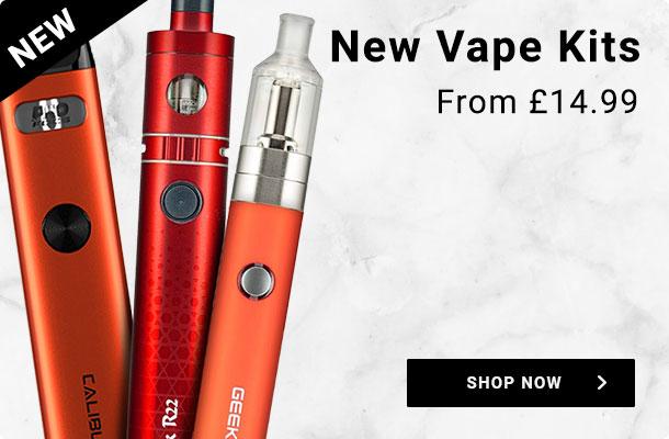 New vape kits. From £14.99